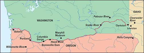 Columbia River Map