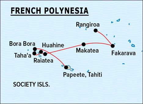 FRENCH POLYNESIA Expedition Map