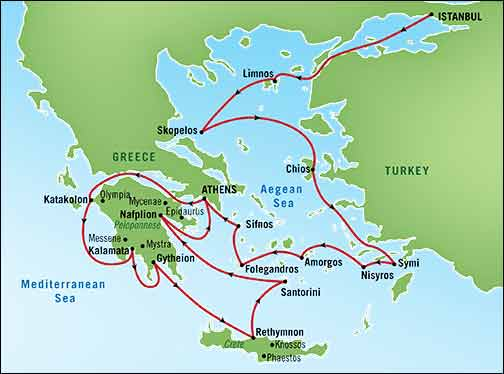 Betchart expeditions europe our itinerary has been carefully chartered to include not only the most significant historical sites of greece and the greek islands but also a number of gumiabroncs Gallery