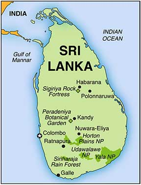 Sri Lanka Expedition Map