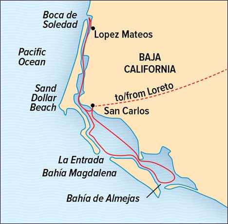 Baja Expedition map
