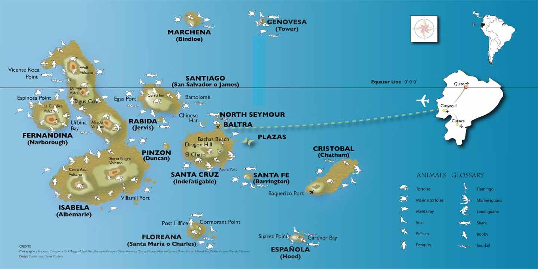 Galapagos Island Map Travel Pinterest Galapagos Islands - Galapagos map