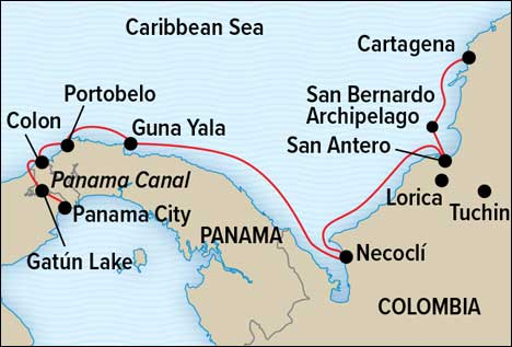 Panama & Colombia Expedition Map
