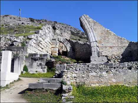 Ancient Theater, built by Philip II in the 4th century BC and later reconstructed by the Romans, Philippi
